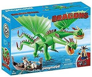 PLAYMOBIL DreamWorks Dragons Dragón 2 Cabezas con Chusco y Brusca, A partir de 4 Años (9458)