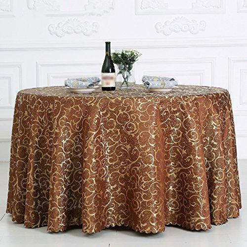 BSNOWF- Nappes Banquet Réunion de mariage Accueil Nappe de table Restaurant Activités Place Exposition Stand Nappe Fibre chimique Taille de tissu En option ( Couleur : F , taille : Round-200cm )