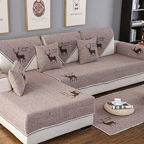 Hm&dx lino copertura divano per divano componibile antiscivolo antimacchia multi-size fodera per divano copridivano copertine morsetto soldi salotto-i cuscino 45x45cm(18x18inch)