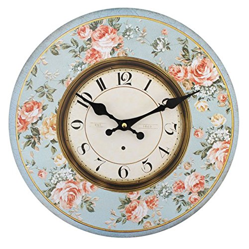 Jones Home and Gift Floral Clock, Multi-Colour by Jones Home and Gift