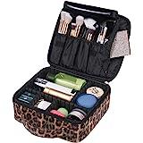 حقيبة مكياج من جلد البولي يوريثان بطباعة الحمار الوحشي من أوكسيترا للنساء والفتيات - حقيبة مكياج كبيرة لطيفة لتنظيم مستحضرات