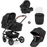 Hauck Pacific 4 Shop N Drive, lätt barnvagnspaket upp till 25kg med bilbarnstol för grupp 0, liggdel som kan bli vändbar sit