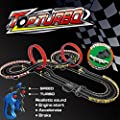 deAO Turbo Race Track Set 1:43 Slot Cars - Two Assembles, Two Speeds for Beginners and Professionals (9m Long)