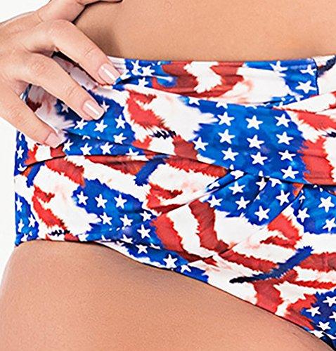 CHENGYANG Damen Vintage Neckholder Hohe Taille Badeanzug Groß Größe Bikini Badebekleidung 2 Stücke Als die Abbildung