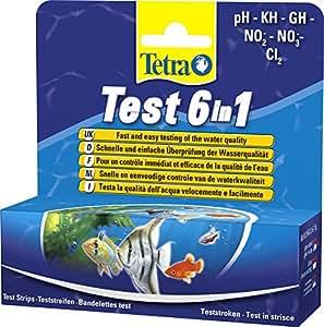 Tetra Test 6 in 1 Wassertest für das Aquarium, 25 Teststreifen