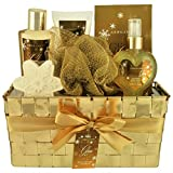 Gloss Glitzy Glam Badeset Geschenkset Vanilla 6 teiliges, 1er Pack (1 x 720 g) Geschenk-Box - Bade-Geschenk