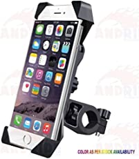 Andride Universal Bike Holder 360 Degree Rotating Bicycle Holder Motorcycle Cell Phone Cradle Mount Holder for All Size Mobile Phones, Black