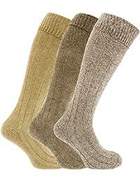Chaussettes thermiques hautes en mélange de laine (lot de 3) - Homme