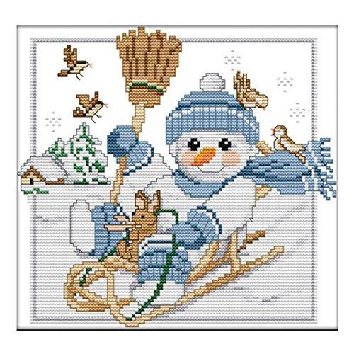 TOOGOO Stitch Cartoon Christmas Snowman