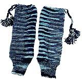 Guru-Shop Wollstulpen aus Nepal, Beinstulpen, Herren/Damen, Blau, Wolle, Size:One Size, Socken & Beinstulpen Alternative Bekleidung