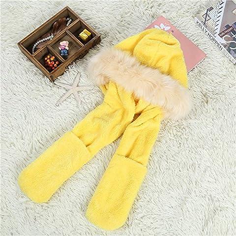 WJP sciarpa Hat guanti tre Kit pezzo coreano Onda a mano moda inverno cute calda lana lavorata a maglia cappelli insiemi W-548