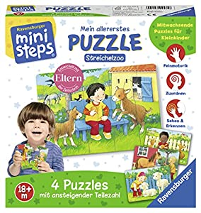 Ravensburger 04535Mein allererstes Puzzle: streichel Zoo Mini Steps Parte