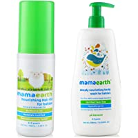 Mamaearth Nourishing Hair Oil for Babies 100ml (0-10 Years) änd Nourishing Baby Wash (400 Ml, 0-5 Yrs)