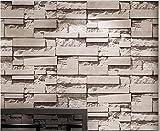 Yosot Retro Ziegel Stein Effekt Tapete Stereoskopischen 3D-Brick Wall Paper Wohnzimmer Schlafzimmer Tv Hintergrundbild Ein