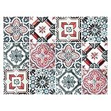 stickerfl incastro decorativa con bei motivi e decorazioni per pareti e piastrelle | 12teiliges Set | satinato | 15x 15cm