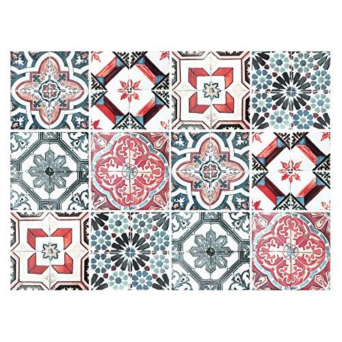 Cuadros Lifestyle Dekorative Stickerfliesen mit tollen Motiven und Ornamenten für Wände und Fliesen | 12 teiliges Set | seidenmatt | 15x15cm (Ornamente Orientalische)