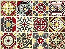 """The Nisha 24 PC """"Peel and Stick"""" Adesivo per Muri in Vinile Piastrella, Decals per la Cucina & Bagno in Stile Art Eclectic, Adesivi muro murali, 10x10 cm, impero bizantino"""