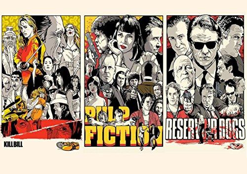 Poster TARANTINO Pulp Fiction Reservoir Kill Bill