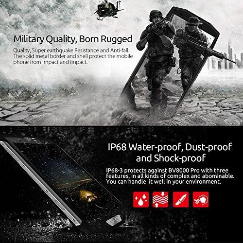 Moviles Libres  Blackview BV8000 Pro 4G Tri-Proof Smartphones Libres  IP68 impermeable  a prueba de golpes y polvo  Android 8 0 Tel  fono M  vil con O