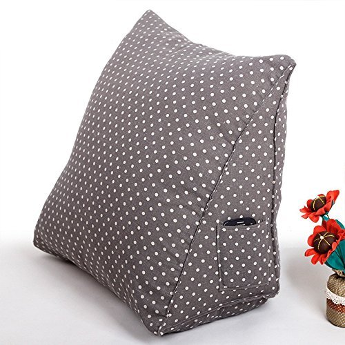 Misslight Luxus Lendenkissen Kissen super bequeme Bett Unterstützung Stuhlkissen Bücherkissen Fernsehkissen Rückenkissen Sofa Bett Taille Kissen Multi Funktion Dreieck (L, Grey Point)