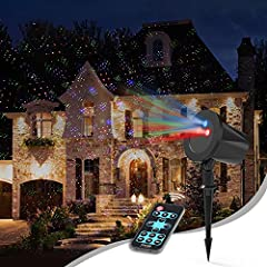 Idea Regalo - Proiettore Natale Esterno, InnooLight  RGB Alloggiamento di alluminio impermeabile Proiettore Luci Natale Decorazione di Natale all'aperto, Luci di Natale Led Proiettore Lampada