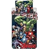 Jerry Fabrics JF0169 Avengers 2016 Parure de lit en coton avec housse de couette 140x 200cm et taie d'oreiller 70x 90cm