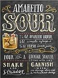 Posterlounge Holzbild 120 x 160 cm: Amaretto-Sour Rezept von Lily & Val/MGL Licensing
