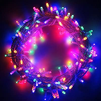 RPGT? 100/200/300/400/500 LED String Fairy Lights with 8 Light Effects, Ideal for Indoor/Outdoor Christmas Trees, Xmas,Garden Party,Wedding Events, etc