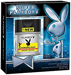 Super Playboy for Men: 100ml Morning Fight After Shave Balm and 150ml Deo Spray