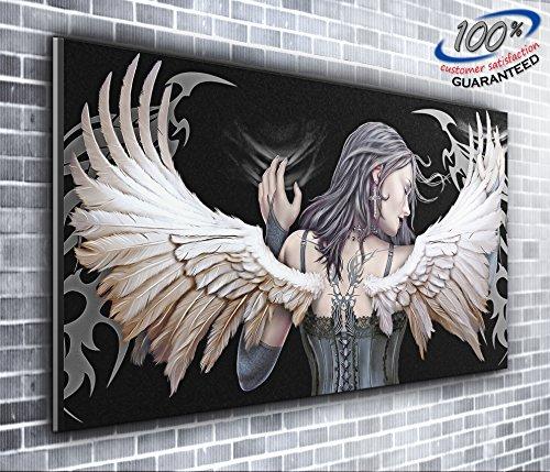 Canvas Gothic Engel Angel von Canvas35Panoramadruck XXL Bild 127x 50,8cm über 4breit x 1,5Fuß hoch fertig zum Aufhängen Umwerfende Qualität, Leinwand, Mehrfarbig, 127x 50x 4cm