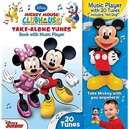 Mickey Mouse Clubhouse Take-Along Tunes [With Mickey Mouse Music Player] (Disney Junior) by Chuck Primeau (Illustrator) (2-Apr-2013) Hardcover