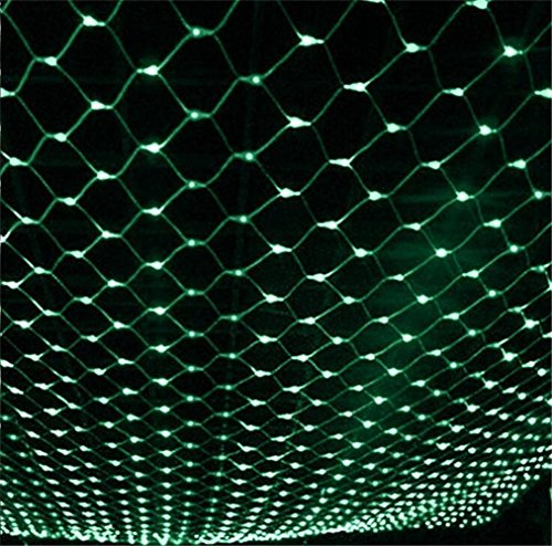 W-ONLY YOU-J LED Weihnachtsdekoration Lichter Net Lichter Fairy Starry String Lichter Baum Garten Terrasse Party Dekoration Hochzeit 2mx2m 144 LEDs (rot) 8 Modi , Green
