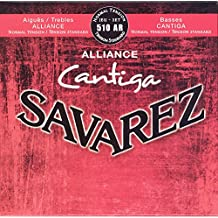 Savarez 656237 - Cuerdas para Guitarra Clásica Alliance Cantiga juego 510AR Tensión normal, rojo