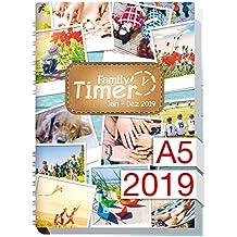 Family-Timer 2019 - Der Familien-Planer! 12 Monate Jan-Dez 2019, Familienkalender