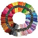 Algodón Hilo de bordar, wartoon algodón bordado hilo dental hilo de coser Conjunto para punto de cruz (100 madejas )