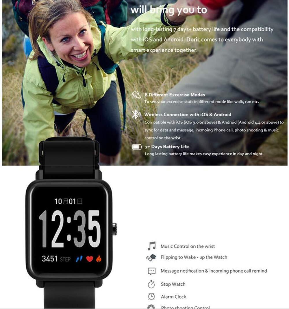 Fitness Tracker IP68 Impermeable Monitor, Letopro Rastreador de Pulsera Actividad Smartwatch Soporte Monitor de ritmo cardíaco Podómetro de presión arterial para Android IOS Mujeres Hombres 4