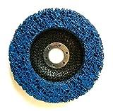 Disco de limpieza gruesa CSD 125mm de diámetro CBS para amoladora de ángulo Clean Strip con tejido de nailon, color azul