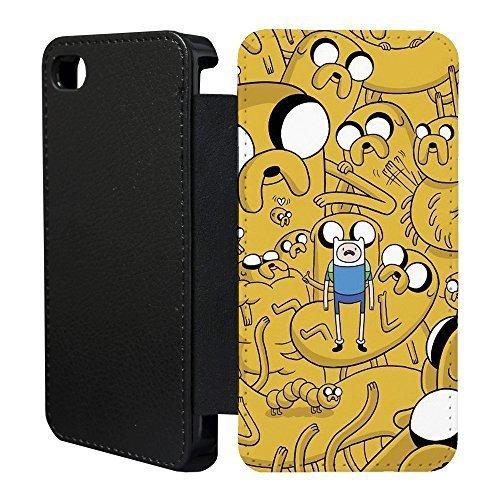 Abenteuerzeit Flip Tasche Geldbörse für Apple iPhone 6 - 6S Nr. 28 - Finn Und Jake - G1277 (Geldbörse Jake)