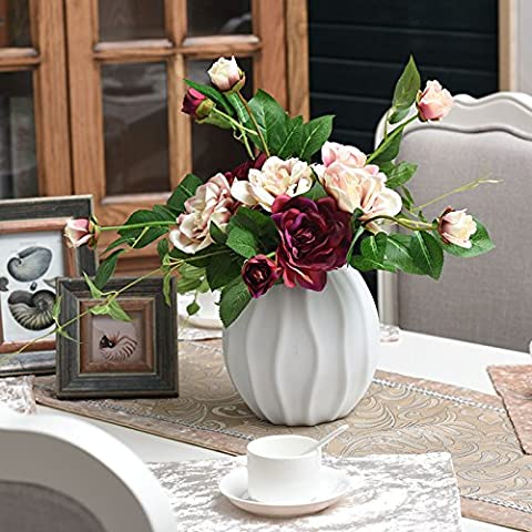 Moderna White Porcelain Vase (Non Incluso Fiori) - Vase Trio