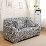 Fiesta Geometic Blumendruck Stretch Spandex Hussen Sofabezug Abnehmbare elastische All-Inclusive-Couchabdeckung für Wohnzimmer: 10, Zwei-Sitzer