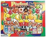 Playfood Set 263398 Kitchen Collection Lebensmittel Set 60 Pieces