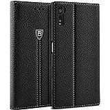 BEZ® Hülle für Sony Xperia XZ Hülle, Handyhülle Kompatibel für Sony Xperia XZ/XZs Bookstyle Tasche Schutzhüllen Klappbar Handytasche mit Kreditkartenhaltern, Ständer, Magnetverschluss, Schwarz