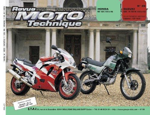 Revue technique de la Moto, numéro 89.2 : Honda NX 125, 1989-1993, Suzuki GSX-r750, 1992-1993
