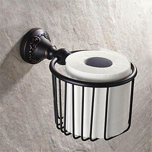 GRY Wand Handtuchhalter Badezimmer Toilettenpapierhalter Toilettenpapierhalter Toilettenpapier Boxen,Antikes Schwarz - Box Halogen-wand