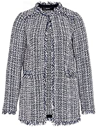 Hallhuber Bouclé Jacket with Frayed Edge