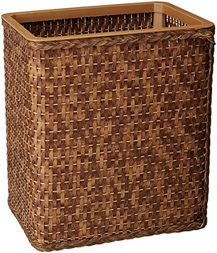 Lamont Home Carter Rectangular Wastebasket, Cappuccino