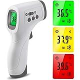 Termometro infrarossi, Termometri Frontale Infrarossi Senza Contatto, Termometri Medico con Display a LED per Febbre per Neon