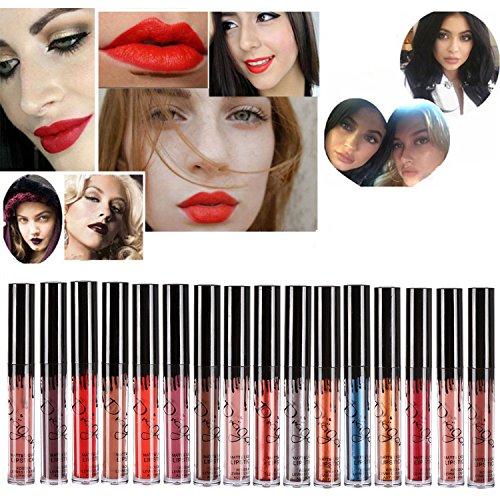 ROMANTIC BEAR 16 Colors Waterproof Long Lasting Matte Liquid Lipstick Beauty Lip Gloss Set (Liquid Lip Gloss)