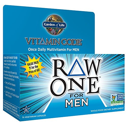 Garden of Life Vegetarisch vitaminergänzungspräparat für Herren - Vitamin Code Raw One Whole Food Vitamin, 75 Kapseln