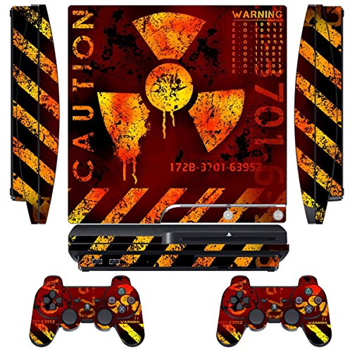 Skin Designer per Sony PS3 Slim Console System Plus Two (2) Adesivi per: Playstation 3 controller Dualshock - MeltDown